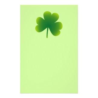 Saint Patrick's Day Shamrock Stationery
