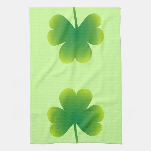 Saint Patrick's Day Shamrock Towels
