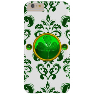 SAINT PATRICK'S DAY SHAMROCK WITH GREEN DAMASK BARELY THERE iPhone 6 PLUS CASE