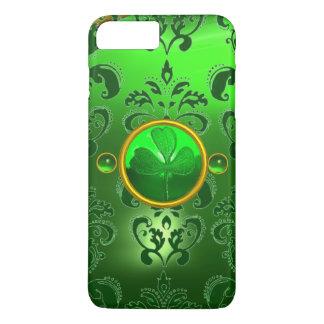 SAINT PATRICK'S DAY SHAMROCK WITH GREEN DAMASK iPhone 7 PLUS CASE