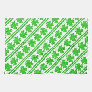 Saint Patricks Day Shamrocks Hand Towel