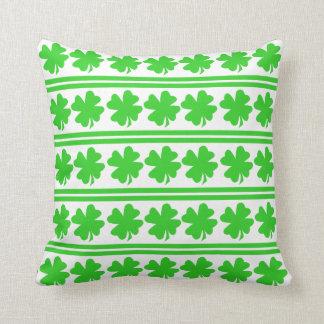 Saint Patricks Day Shamrocks Throw Pillow
