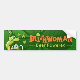 Saint Patrick's Day Snake Bumper Sticker