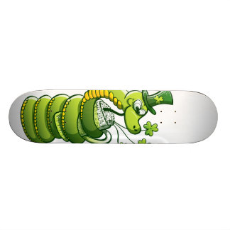 Saint Patrick's Day Snake Skate Board Decks