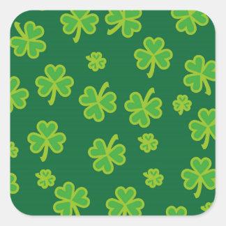 Saint Patrick's Day - Three Leaf Clovers Square Sticker