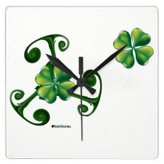 Saint patrick's Day & Triskele.Lá Fhélie Pádraig Square Wall Clock
