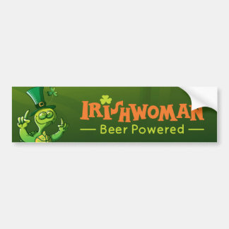 Saint Patrick's Day Turtle Car Bumper Sticker