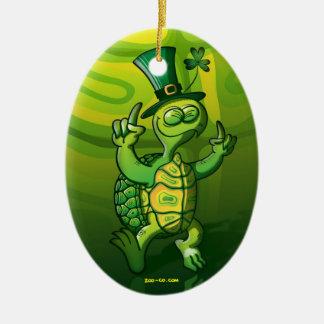 Saint Patrick's Day Turtle Ceramic Ornament