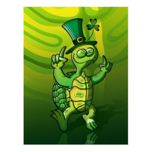 Saint Patrick's Day Turtle Postcard