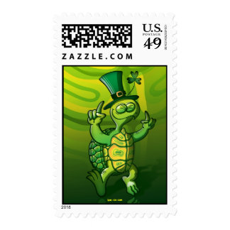 Saint Patrick's Day Turtle Stamps
