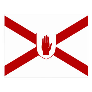 Saint Patrick'S For Northern Ireland Shield flag Postcard