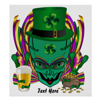 """Saint Patrick's I drink in peace day.  32""""X35"""" Poster"""