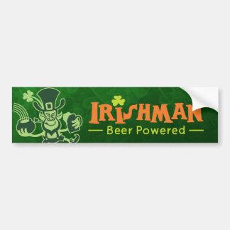 Saint Patrick's Leprechaun Dancing and Celebrating Bumper Sticker