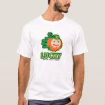 Hand shaped Saint Patricks Lucky Leprechaun t-shirt
