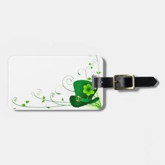 Saint Patricks Shamrock Luggage Tag