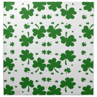 Saint Patrick's shamrock napkin