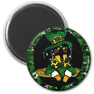 Saint Patty  Dachshund 2 Inch Round Magnet