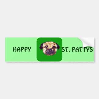 SAINT PATTY PUG BUMPER STICKER