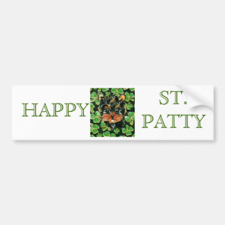 SAINT PATTY YORKIE POO BUMPER STICKER