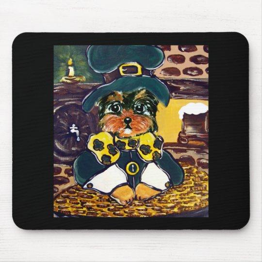 Saint Patty Yorkie Poo Mouse Pad