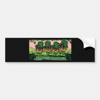 Saint Patty Yorkie Poos Bumper Sticker