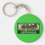 Saint Patty Yorkie Poos Basic Round Button Keychain