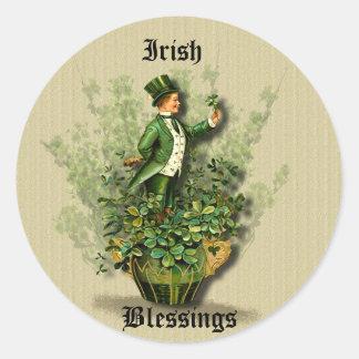 Saint Patty's Day Gent- Irish Blessing Stickers
