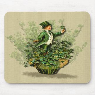 Saint Patty's Day Gent- Irish Blessings Mousepad