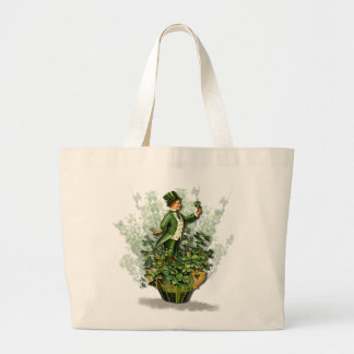 Saint Patty's Day Gent- Irish Blessings Tote Canvas Bag