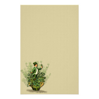 Saint Patty's Day Gent- Stationary- No Lines Stationery