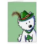 Saint Patty's Westie Terrier Greeting Card