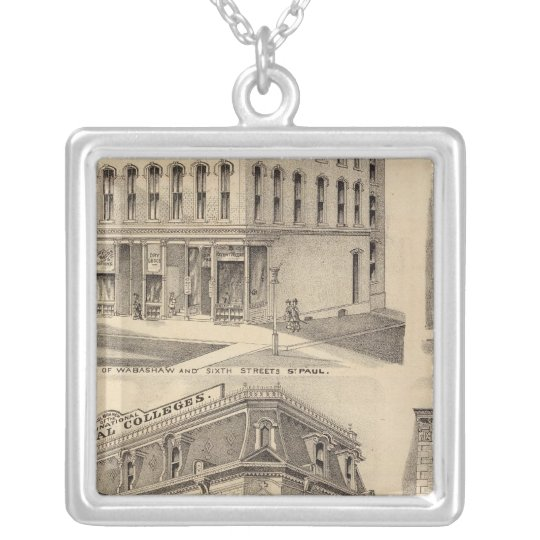 Saint Paul Business College, Minnesota Silver Plated Necklace