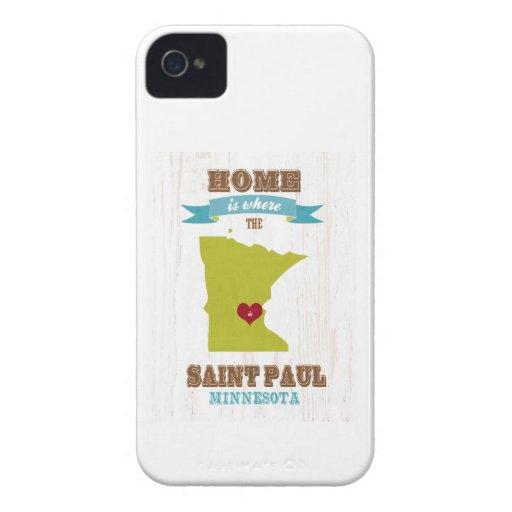 Saint Paul, mapa de Minnesota - casero está donde Case-Mate iPhone 4 Carcasa
