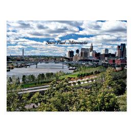 Saint Paul, Minnesota Landscape Postcard