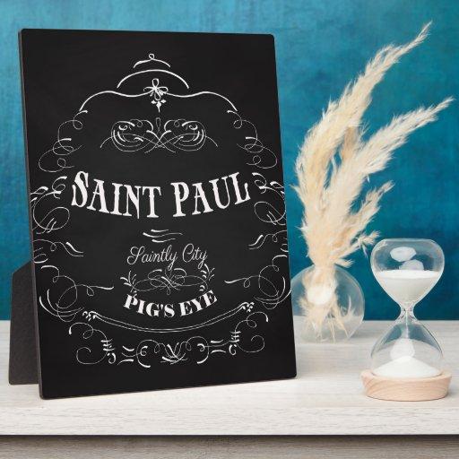 Saint Paul Minnesota - Saintly City. Pig's Eye Plaques