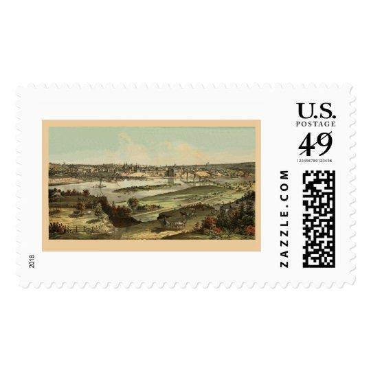 Saint Paul, MN Panoramic Map - 1874 Postage