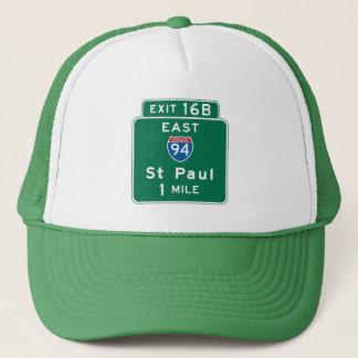 Saint Paul, MN Road Sign Trucker Hat