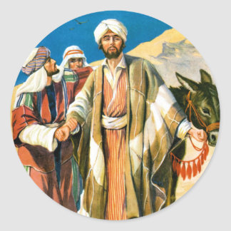 Saint Paul on the Road to Damascus Classic Round Sticker