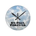 Saint Paul para siempre - básico Relojes De Pared