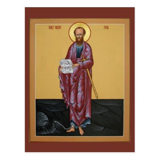 Saint Paul Prayer Card Postcard