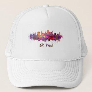 Saint Paul skyline in watercolor Trucker Hat