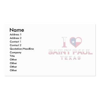 Saint Paul, Tejas Tarjeta Personal
