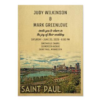 Saint Paul Wedding Invitation Vintage Mid-Century