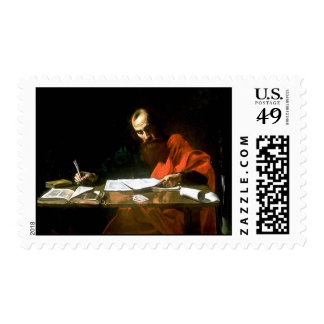 Saint Paul Writing His Epistles Postage