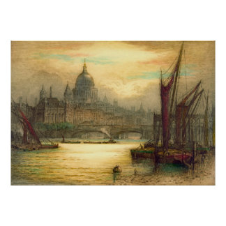 Saint Paul's Cathedral 1902 Poster