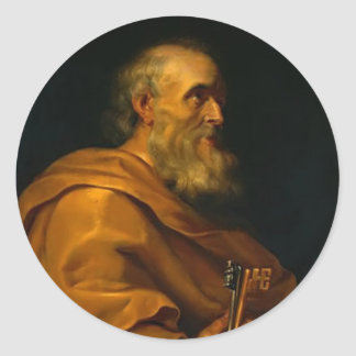 Saint Peter by Jusepe de Ribera Classic Round Sticker