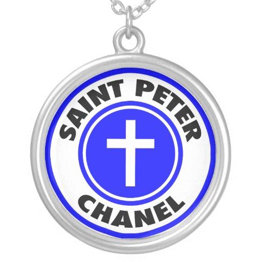 Saint Peter Chanel Round Pendant Necklace