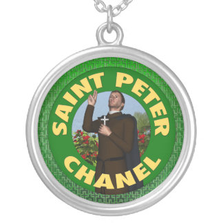 Saint Peter Chanel Silver Plated Necklace