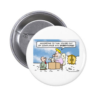 saint peter heaven out of compliance 2 inch round button