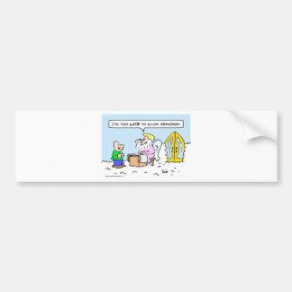 saint peter show remorse late heaven bumper sticker